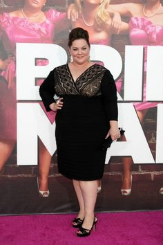 Melissa McCarthy  - mother of the bride dress for apple bodies this dress is perfect, just in another color!