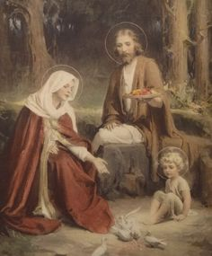 """The Holy Family"" Art Print by C. Bosseron Chambers, Jesus Mary Joseph"