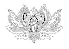 Lotus Flower Mandala Style Printable by InknIllustrations on Etsy, $12.50