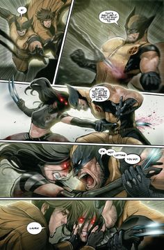 X-23 #10 - the effects of the trigger scent, as displayed by X-23