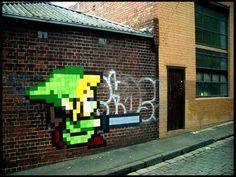 Ghostpatrol - Zelda street art