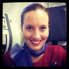 Virgin Australia stewardess crewfie @alexandrialyons
