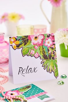 Relax card (PaperCrafter, issue 85)