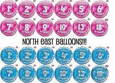 """18"""" foil #birthday #balloon pink or blue, #holographic boy girl ages 1 - 80,  View more on the LINK: http://www.zeppy.io/product/gb/2/200833891627/"""