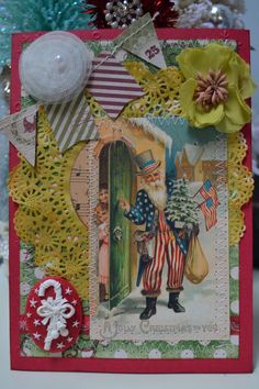Handmade Christmas Card 5X7.  ECS. by KellyDealDesigns on Etsy, $7.50