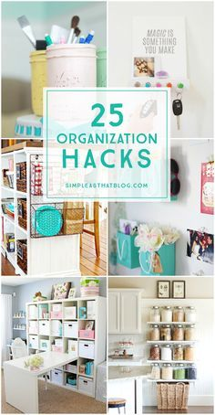 stay organized this year with some great organization hacks for every part of your life! The kitchen, toys, paper clutter - tips to organize it all!