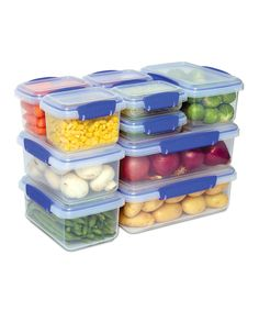 These Sistema containers are amazing!  I highly recommend. Clear & Blue KLIP IT 10-Piece Set
