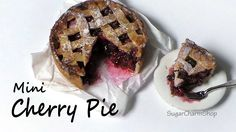 Simple Cherry Pie - Polymer Clay Tutorial