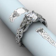 Celtic trinity knot ring. WANT!!!!!!!! BEAUTIFUL!!!