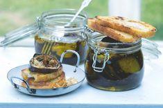Nakládané lilky Mason Jars, Mugs, Breakfast, Tableware, Food, Morning Coffee, Dinnerware, Tumblers, Tablewares