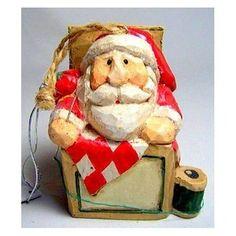 Eddie Walker Santa ornament Christmas Things, Father Christmas, Christmas Elf, Xmas, St Claus, Jack In The Box, Santa Ornaments, Santa Baby, Picture On Wood