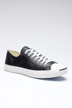 Leather Converse. Want.