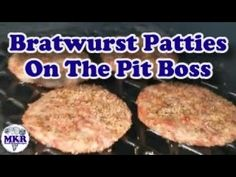 Smoked Bratwurst Patties Make Great Burgers On The Pit Boss Grill! Picked up some bratwurst patties at the store the other day and man do they smoke up nice! Smoker Recipes, Burger Recipes, Bratwurst, Other Recipes, Crepes, Grilling, Boss, Collections, Beautiful
