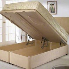 DIY Storage Bed & Headboard on Pinterest | Headboard Alternative, Diy ...