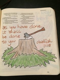 Obadiah 1:15 Scripture Art, Bible Art, Lamentations, Psalms, Scriptures, Bible Verses, Bible Illustrations, Bible Activities, Illustrated Faith