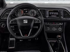 2016 Seat Leon Cupra 290 ST >>>  Cupra stands for power, performance, dynamics - and the Leon Cupra fulfils all these promises perfectly. The Cupra 290 with optional DSG transmission catapults from zero to 100 km/h in just 5,7 seconds, and in 5,8 seconds with the manual gearbox. The regulated top speed of 250 km/h is a matter of course. The maximum torque of 350 Newton meters is now available across an even broader rev range from 1,700 to 5,800 rpm.