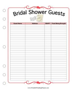 1000+ images about Bridal shower checklists on Pinterest Bridal ...