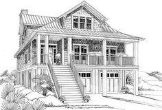 Narrow Lot Beach House Plan - 15035NC | Beach, Cottage, Low Country, Vacation, Narrow Lot, Photo Gallery, 2nd Floor Master Suite, Butler Walk-in Pantry, CAD Available, Drive Under Garage, Elevator, PDF | Architectural Designs