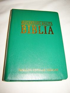 Tagalog Bible Popular Version / Magandang Balita Biblia TVP 035 GE / Biblia na isinalin sa Wikang Tagalog / GREEN Bonded Leatherbound Cover, Golden Edges, Section heading, Book Intro, Maps / Philippine