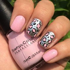 Can't go wrong with leopard nails