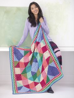 Free Crochet Pattern: Happy Granny Afghan