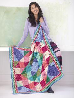 Free Crochet Pattern: Happy Granny Afghan