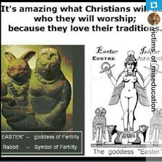 Easter is a PAGAN Satanic tradition that is NOT in the bible at ALL!!! Wake up!!! Satan fools the whole world. #HebrewIsraelites spreading TRUTH #ISRAELisBLACK Praise the MOST High AHAYAH and Yashaya CHRIST