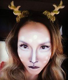 Happy Halloween @ work.  #halloweenmakeup #halloween #deer  #deermakeup #makeup #makeupaddict #makeuplover #funtimes #beauty