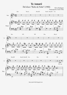 Guilo Villar: Te Amaré (Silvio Rodriguez) Partitura para Piano Music Score, Sheet Music, Entertaining, Facebook, Musicians, Christmas, Flute, Log Projects, Piano Teaching