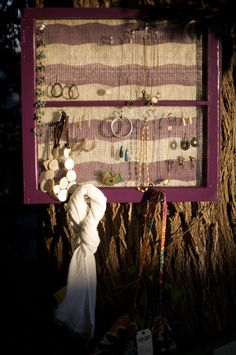 Purple window repurposed jewelry holder and by shopcapricious, $100.00