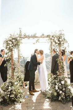 A romantic and bold destination wedding in Malibu, featuring real couple Katrina and Dave.  #outdoorweddings #destinationweddingideas #romanticweddings