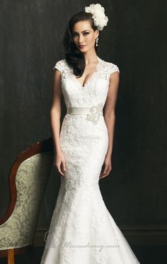 Mermaid Lace English Net by Allure Bridals $389.99 Allure