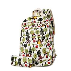 2016 Hot Sale Printing Backpacks For Girls Canvas Women Backpack Big Capacity School Bags For Teenagers Travel Bag Y1529
