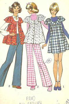 Vintage Simplicity 5429 Misses MiniJumper Smock by sassybydesign, $5.00