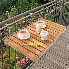 Narrow Balcony, Balcony Bar, Small Balcony Design, Tiny Balcony, Small Balcony Decor, Balcony Railing, Small Balconies, Balcony Ideas, Small Balcony Furniture
