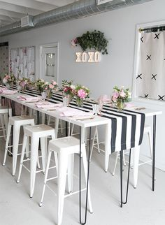 Black, White, and Pink XOXO Baby Shower - Inspired By This