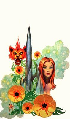 Frank Kelly Freas - art for Flower of Doradil by John Rackham - 1970 Ace Double 24100