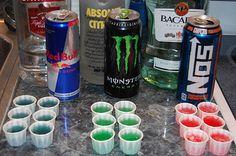 Red Bull And Vodka Jello Shots
