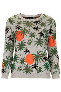 Palm Tree Lurex Sweater