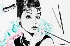 Audrey Tiffany's Seamless Patterns by Karamfila on @creativemarket