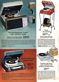 I had one with a faux denim facade. I played the hell out of all my 45s and LPs. Ahhh..