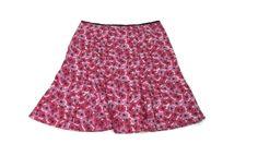 Womens Size 18W Spring Summer fuchsia pink Black floral Skirt Courtenay  #Courtenay #FullSkirt