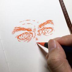 "11.4k Likes, 84 Comments - unique (@uniquelab) on Instagram: ""here we go! 4""x6"". Akashiya Brushpen. #illustration #sketch #doodle #drawing #uniqueillustration…"""