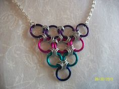 Bright Colors Chainmaille Necklace Pink by DysfunctionalAries, $17.00