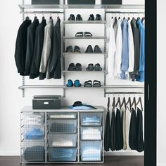 closet with everything a man needs