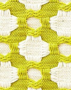 Celerie for Schumacher Betwixt in Chartreuse/White