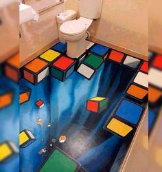 Suelos de cuartos de baño en 3D