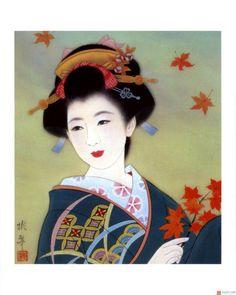 Geisha art leaves