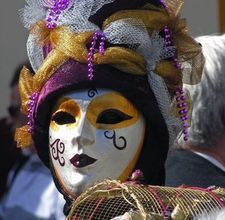 DIY Venetian paper-mache mask
