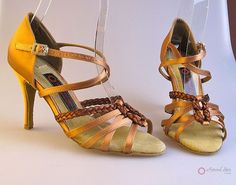 Natural Spin Signature Latin Shoes(Open Toe):  H11137-02_DrTanES